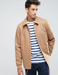 Asos Wool Mix Coach Jacket In Camel Camel Beige