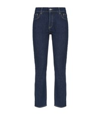 Claudie Pierlot High Waisted Straight Jeans Blue