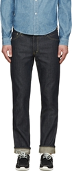Visvim Blue Unwashed 04 Social Sculpture Jeans