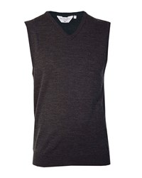 Double Two Men's V Neck Sleeveless Sweater Graphite