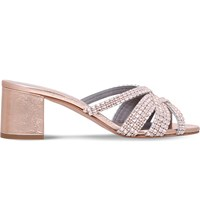 Gina Dexie Rocher Jewel Embellished Leather Sandals Bronze