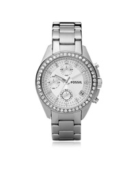 Fossil Decker Ladies Stainless Steel Watch Silver