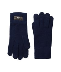 Ugg Tech Glove Brushed Lining Navy Wool Gloves