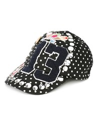 Dolce And Gabbana 'St Pois' Patch Cap Black