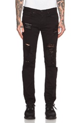 Stampd Distressed Essential Jean In Black
