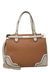 Lydc London Handbag Cream Tan Beige