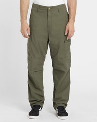 Carhartt Green Wash Columbia Elasticated Regular Fit Cargo Trousers