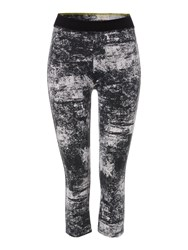 Label Lab Textured Printed Leggings Black White