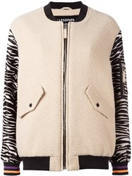 Filles A Papa 'Franki' Bomber Jacket Nude And Neutrals