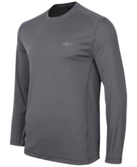 Greg Norman For Tasso Elba Long Sleeve Performance Shirt Only At Macy's Grey