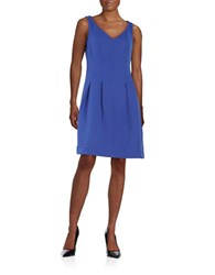 Taylor Circle Stitched Fit And Flare Dress Cornflower