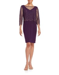 Patra Beaded Popover Dress Plum