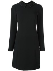 Michael Michael Kors Embellished Collar Shift Dress Black