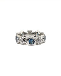 Elizabeth Showers London Blue Topaz Maltese Eternity Ring Size 6