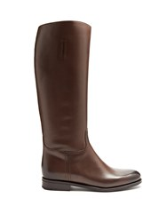 Church's Ofelia Leather Knee High Boots Brown