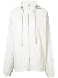 Rick Owens Drkshdw Hooded Windbreaker Women Cotton M White