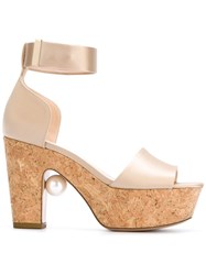 Nicholas Kirkwood Pearl Platform Sandals Pink And Purple