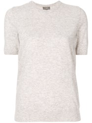 N.Peal Cashmere Round Neck T Shirt Nude And Neutrals