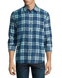 Nat Nast Scoundrel Plaid Sport Shirt Cadet