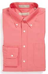 Nordstrom Men's Big And Tall Men's Shop Smartcare Tm Traditional Fit Pinpoint Dress Shirt Red Blaze