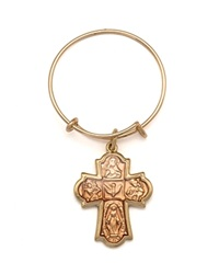 Alex And Ani Sacred Cross Mini Expandable Wire Ring Precious Metal Collection Gold