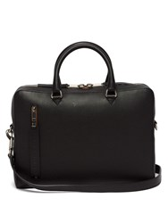 Burberry Grained Leather Briefcase Black Grey