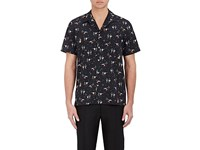 Paul Smith Ps By Men's Dancer Print Camp Shirt Navy