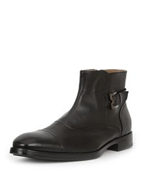 Bruno Magli Arcadia Leather Buckle Ankle Boots Black
