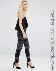 Maya Petite All Over Embellished Legging Black Blue
