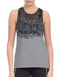 2Xist Burnout Cotton Blend Tank Charcoal