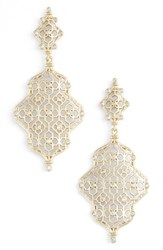 Kendra Scott Women's Renee Drop Earrings White Cz Gold