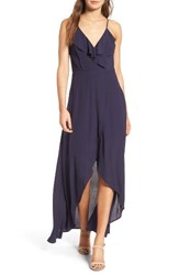Dee Elly Women's Ruffle Surplice Maxi Dress