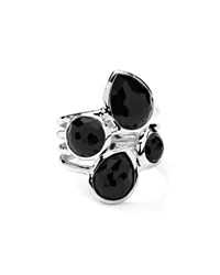 Sterling Silver Rock Candy 4 Stone Ring In Black Onyx Ippolita