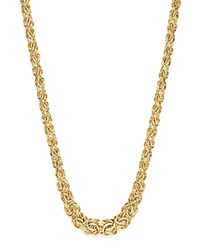 Bloomingdale's 14K Yellow Gold Graduated Byzantine Chain Necklace 17