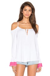 Vava By Joy Han Yoori Open Shoulder Top White