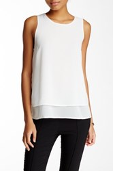 Blvd Chiffon Sleeveless Blouse White