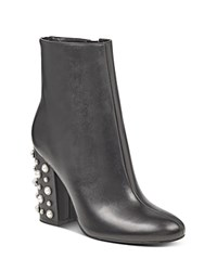 Ivanka Trump Telora Embellished High Block Heel Booties Black