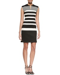 Derek Lam Gradient Stripe Knit Sheath Dress