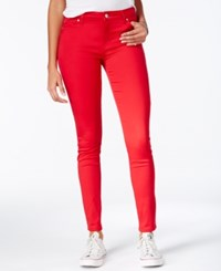 Celebrity Pink Body Sculpt By Lifter Skinny Jeans Tango Red