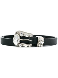 B Low The Belt Riley Crystal Buckle Black