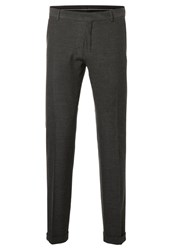 Selected Homme Suit Trousers Medium Grey Melange Dark Grey