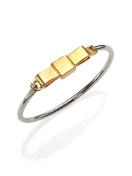 Marc By Marc Jacobs Medium Bow Tie Bangle Bracelet Gold Silver