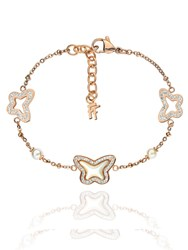 Folli Follie Butterfly Triple Rose Gold Necklace