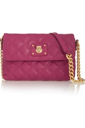 Marc Jacobs The Single Quilted Leather Shoulder Bag Purple