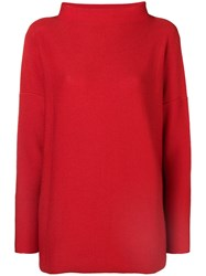 Daniela Gregis Halter Neck Jumper Red