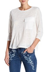 Romeo And Juliet Couture 3 4 Sleeve Pocket Tee White