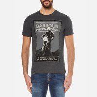 Barbour International Men's Ignition Crew T Shirt Charcoal Grey