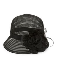 Scala Fancy Mesh Cloche Black