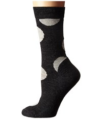 Smartwool Polk A Dot Crew Charcoal Heather Women's Crew Cut Socks Shoes Gray