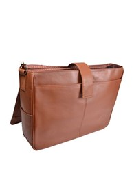 Royce Executive Laptop Messenger Bag Tan